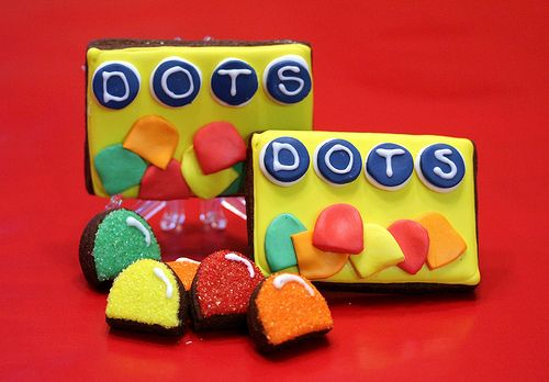 Dots cookies! Let's just hope these weren't in a bag full of travel sized toiletries. Haha!! @Rachel Hester