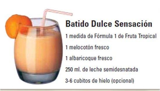 Batido Dulce Sensación:  Una deliciosa receta para preparar el Batido nutricional de Herbalife.