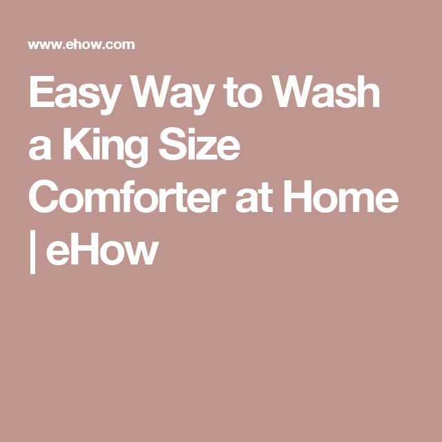 Easy Way to Wash a King Size Comforter at Home   eHow
