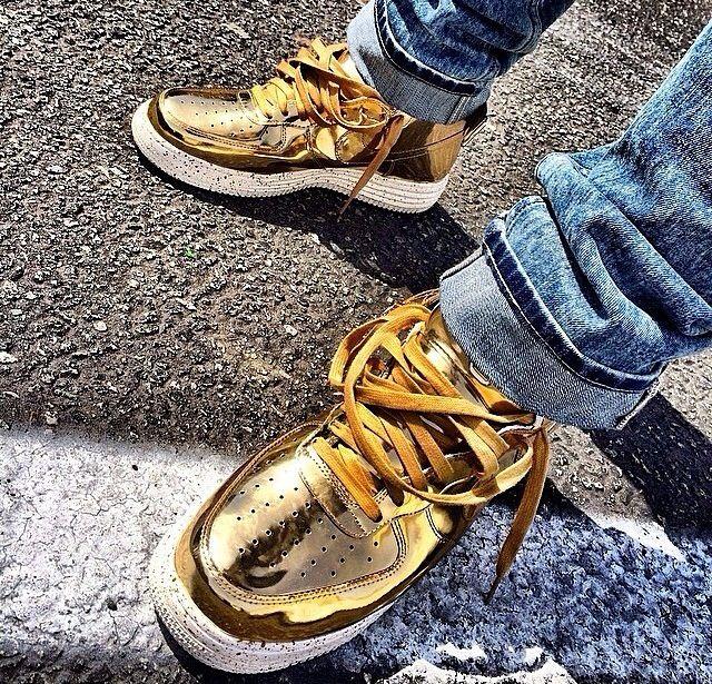 Gold Air Force Ones Shoes Pinterest Nike Air Force
