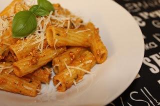 Antipasti pesto with pasta