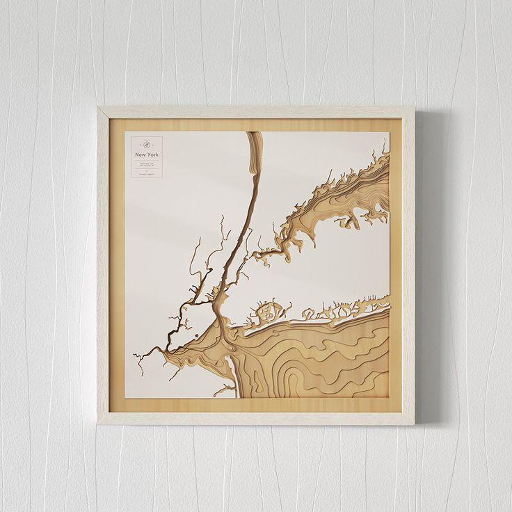 New York map  NY, USA