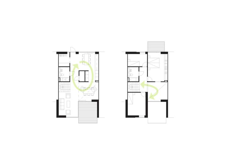 Sustainable Town Houses / C.F.Møller Architects,Apartment Layout Diagram © C.F. Møller Architects