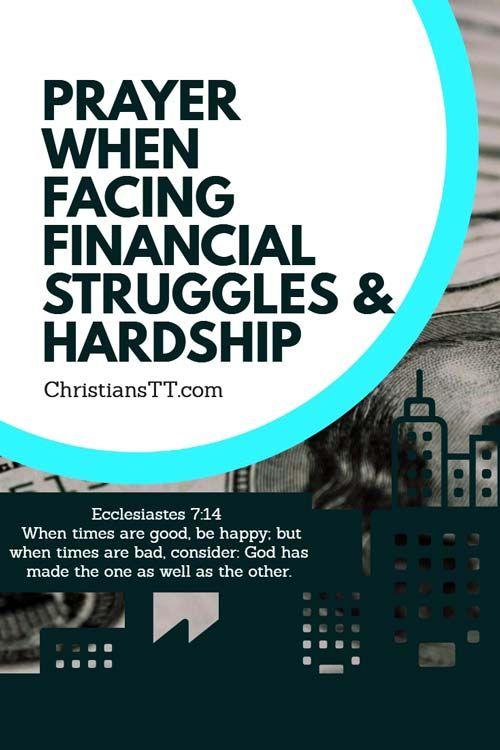 Prayer For When Facing Financial Struggles & Hardship