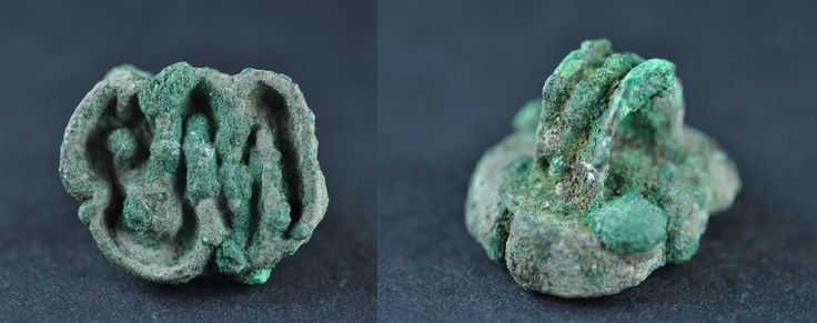 Bactrian bronze stamp seal in shape of snake, 2nd millenium B.C. Bactrian bronze stamp seal in shape of snake with loop, 2.3 cm long, 9 gr weight. Private collection