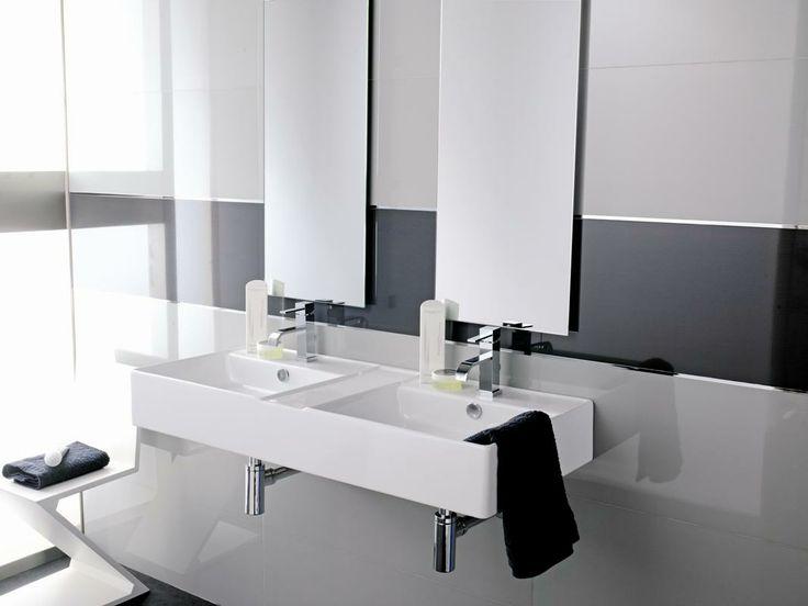 Porcelanosa 'Glass Blanco' & 'Glass Antracita' | 316x900 large format gloss tiles | Ceramo. http://ceramo.com.au/products.asp?category=244&page=1&id=654