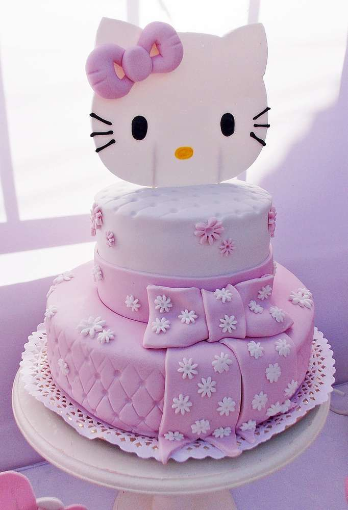 Hello Kitty Cake Design Ideas : Hello Kitty Birthday Party Ideas Party cakes, Pink hello ...