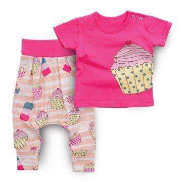 Baby Corner Cupcakeli Şalvar Takım bebizo.com'da! - bebek takım - bebek modası