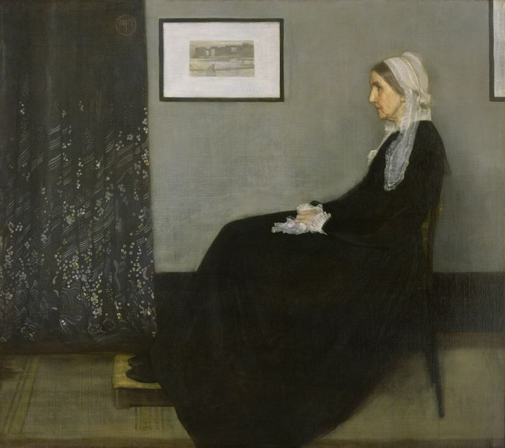 "James McNeill Whistler, ""Arrangement in Grey and Black No. 1"" 1871. Oil on Canvas. (""Whistler's Mother,"" Anna.)"
