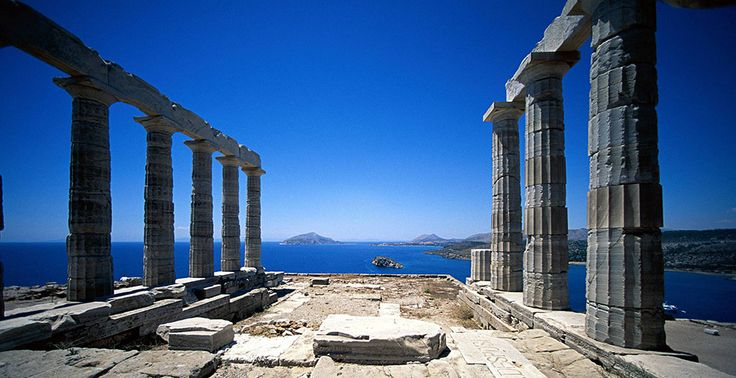 The amazing view from Poseidon temple at Sounio! Read more at our experience Blog!
