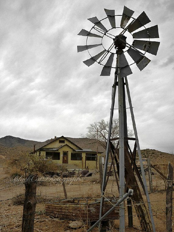 Vintage Windmill 4x6 Fine Art Photography by BlackCatPhotographs, $10.00