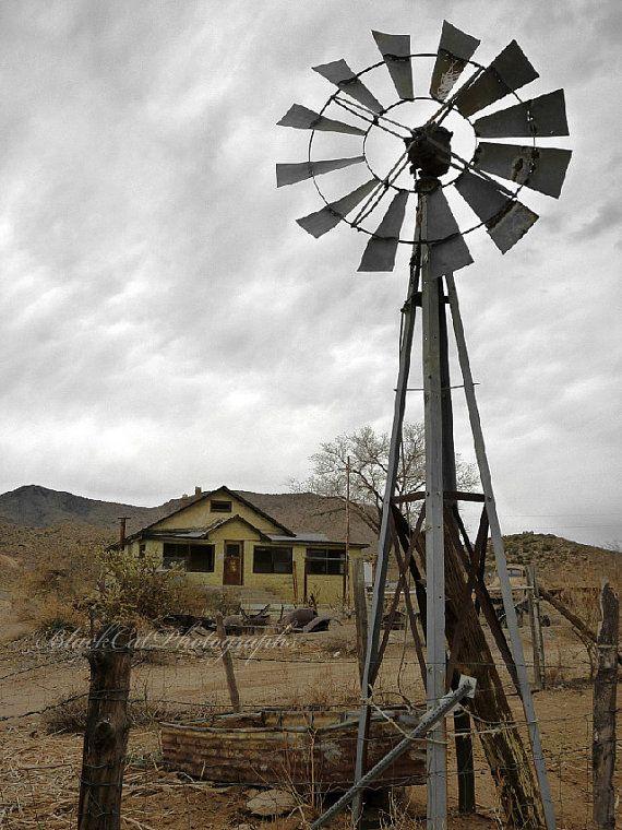 Vintage Windmill 4x6 Fine Art Photography by BlackCatPhotographs, $10.00