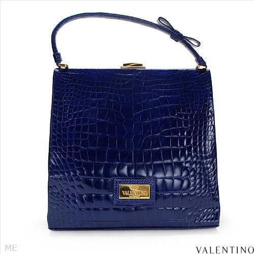 $2,149.00  VALENTINO! Made in Italy Beautiful Ladies Purse Made of Blue Crocodile Leather