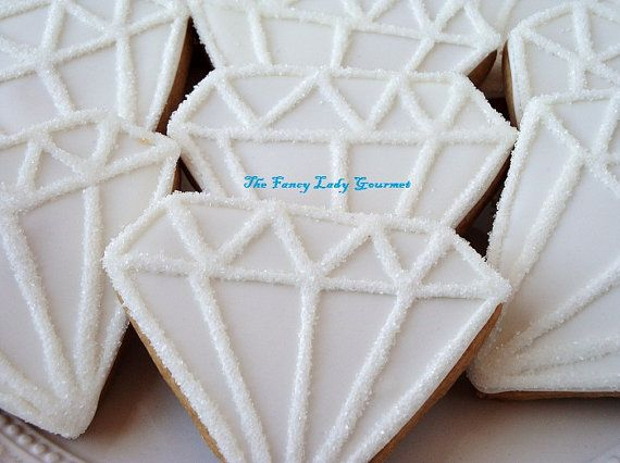 Diamond bling cookies 1 dozen by TheFancyLadyGourmet on Etsy