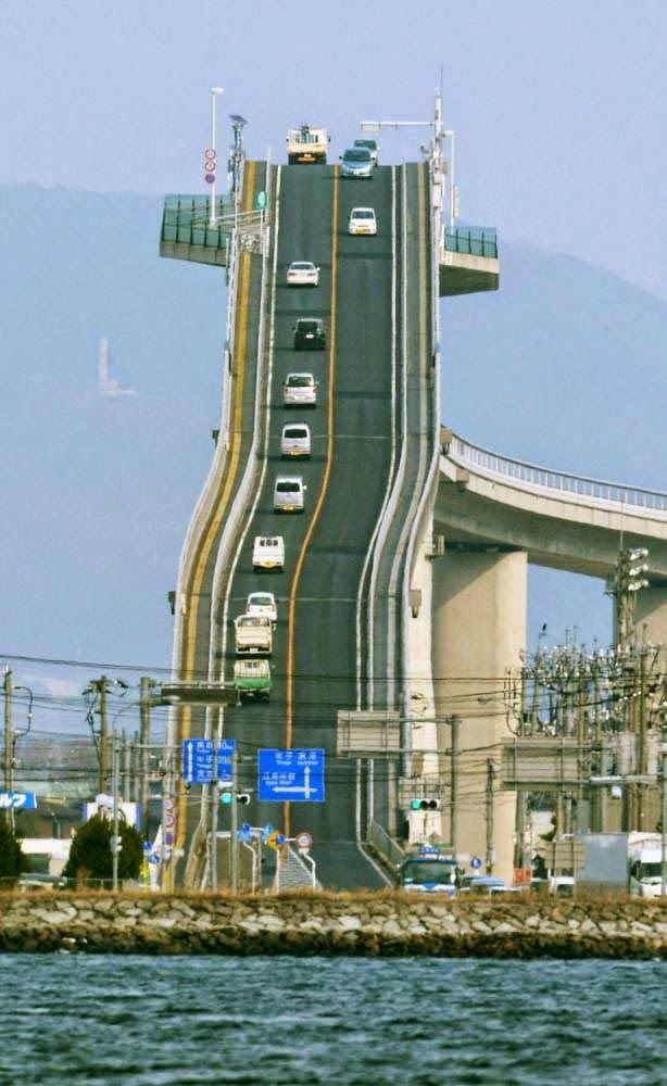 Extreme Architecture of Roller Coaster Bridge of Japan