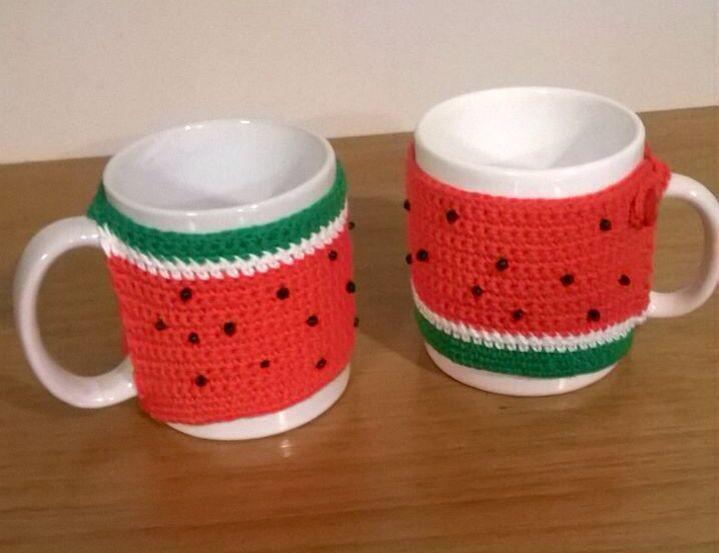 #watermelon cups!! #CROCHET