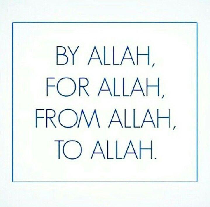 Thanks to Allah.