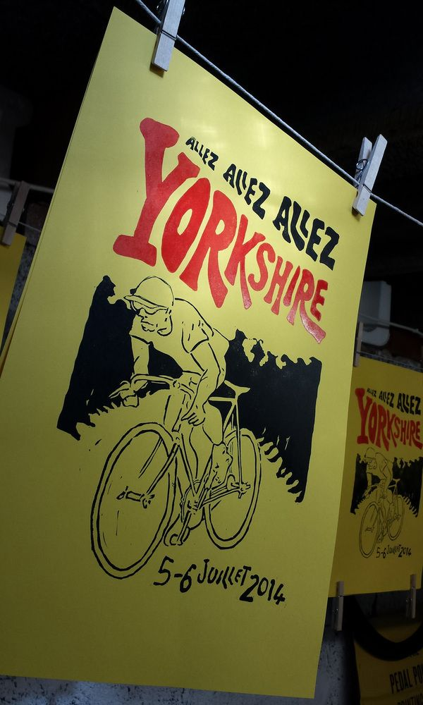 Yorkshire Grand Depart Tour de France inspired 'en danseuse' A3 print £18.00