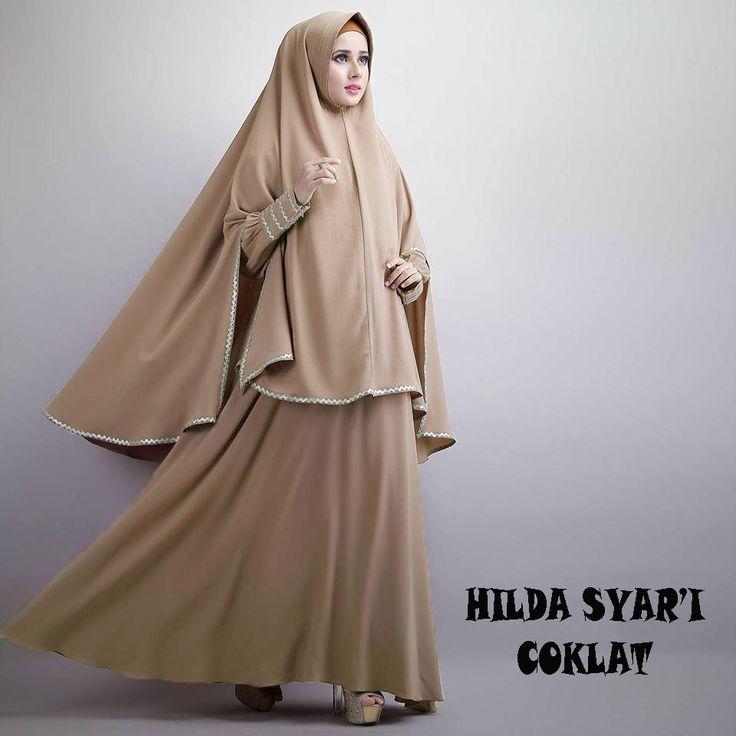 Gamis Syar'i Modern HILDA MOCCA - http://warongmuslim.com/gamis-syari/gamis-syari-modern-hilda-mocca/