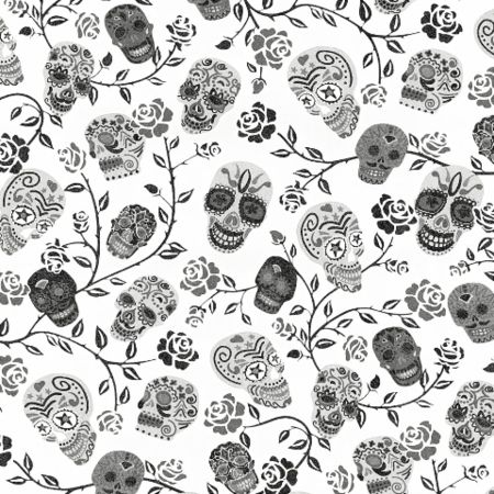 #NewArrival say hello to this amazing new Mexican Sugar Skull wallpaper available in two colours at only £11.99 a roll!