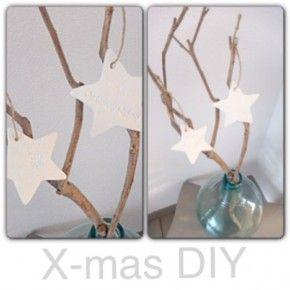 DIY Kerst hangers! Leuk om zelf te maken. Zie mijn Blog leeffstijl.blogspot. nl