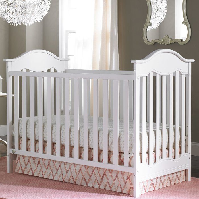 The Fisher Price Charlotte Traditional Crib is a sweet addition to any nursery. The gracefully arched end panels and carved inset detail create an adorable vintage look. This crib works well as an island style crib positioned in the middle of the room, as well as against a wall, making it very versatile. The sturdy design easily transitions to a toddler bed and day bed. Optional guardrail available and sold separately. Adorn your crib with exclusive, personalized name plaque for baby…