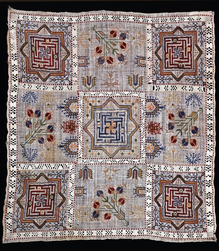 Armenian embroidery, from Western Armenia (= Anatolia), late-Ottoman era, 19th century. (The Russian Museum of Ethnography, St.Petersburg).