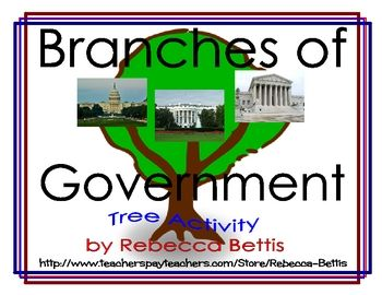 Students read facts about the government, written on leaf shapes. They sort the facts based on the government branch described, and glue each leaf to the correct branch of a tree they create.