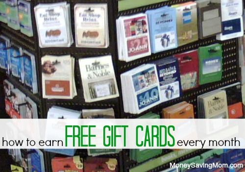 How to Earn FREE Gift Cards Every Month