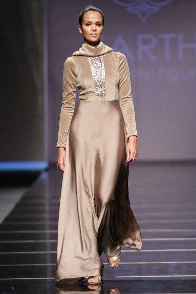 Velvet and silk satin dress by ZARTH