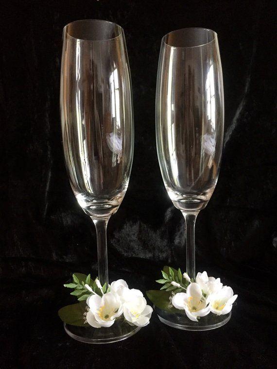 Wedding Toasting Flutes Champagne Glasses Wedding Gift Bridal