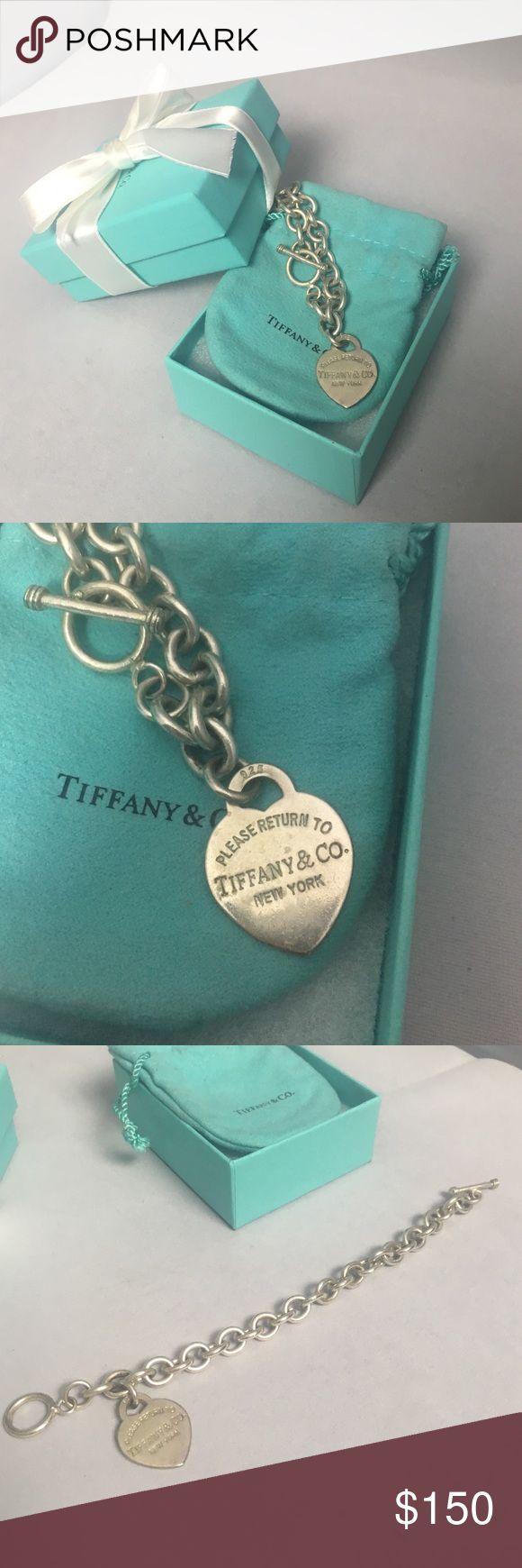 Heartshaped Tiffany Charm Bracelet! Authentic Stirling Silver Tiffany And  Co Charm Bracelet