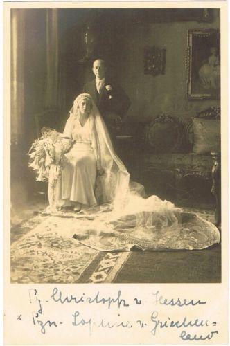 1930 Heirat Prinz Christoph von Hessen (Hesse) & Prinzessin Sophie von Griechenland (Greece).