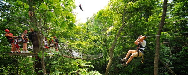 Zipline and Canopy Tour at Long Point Eco-Adventures! 8 Ziplines, 2 Skybridges and 40ft Rappel.