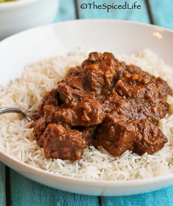 Restaurant Style Beef Vindaloo--Indian curry like what you would order in an Indian restaurant in America. Dairy-free recipe from @thespicedlife (top w/ dairy-free greek yogurt, if desired.