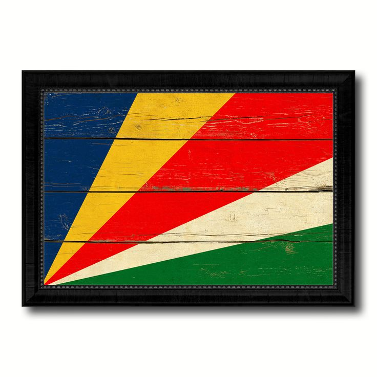 Seychelles Country Flag Vintage Canvas Print with Black Picture Frame Home Decor Gifts Wall Art Decoration Artwork
