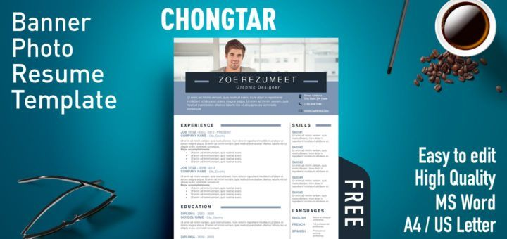 Chongtar Banner Photo Resume Template Resume Template Microsoft Word Resume Template Right To Education