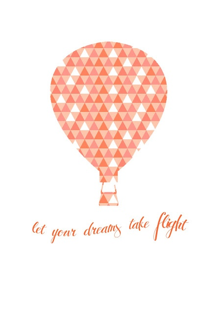 Let Your Dreams Take Flight - cute quote for nursery