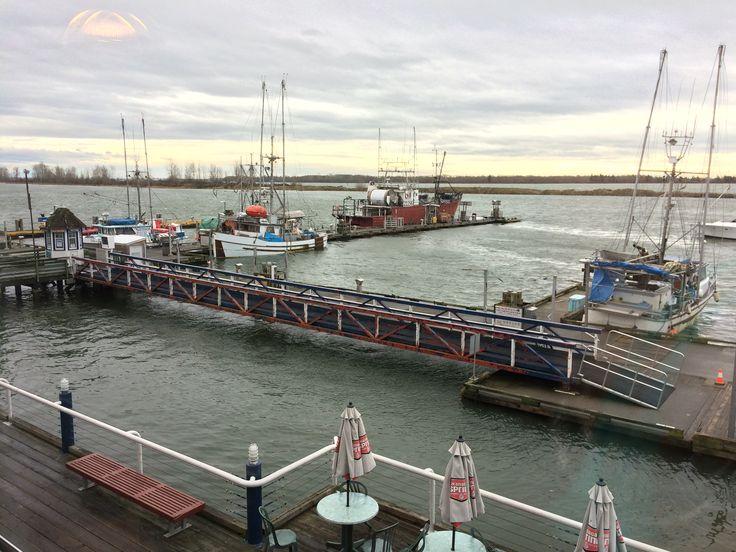 high tide in Steveston