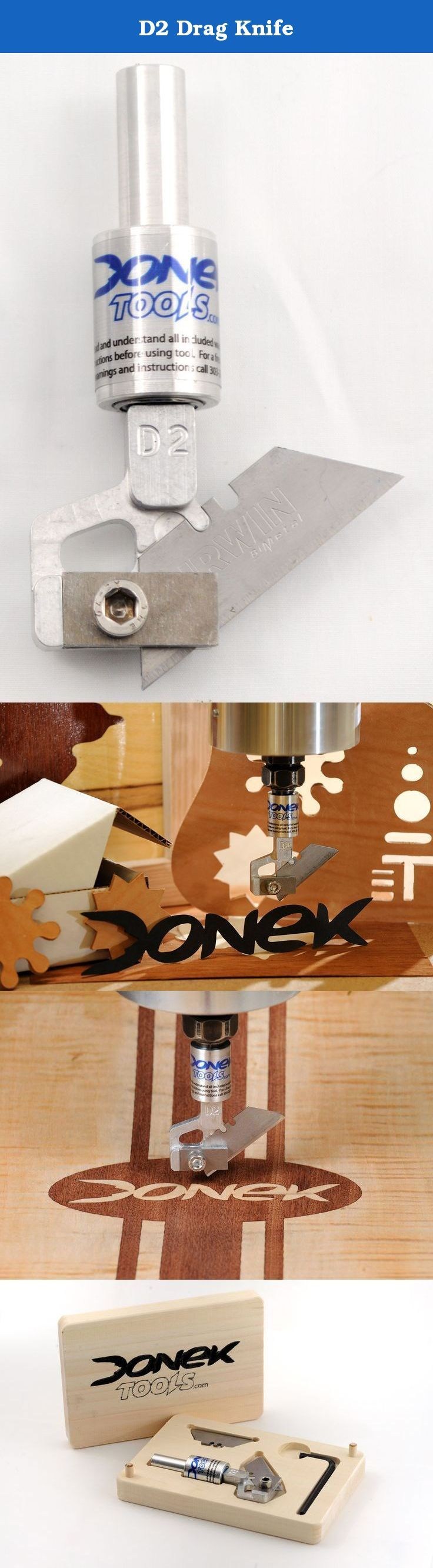 D2 Drag Knife. The Donek Tools Drag Knife can be used to cut almost anything you would cut with a utility knife, but with the speed and precision of a CNC router or mill. The Donek Drag Knife fits into your CNC router or spindle collet, making it a universal fit for almost any CNC router or mill available. The tools were designed to use a utility knife blade (though a specific type) which dramatically reduces the cost of consumable blades. Donek Drag Knives are being used in industry and…