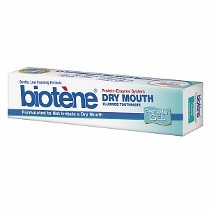 Good for people getting Chemo, people with Crohn's or Sjogren's Syndrome -  Biotene Dry Mouth Toothpaste with Bio-Active Enzyme Protection, Gentle Gel, Mint