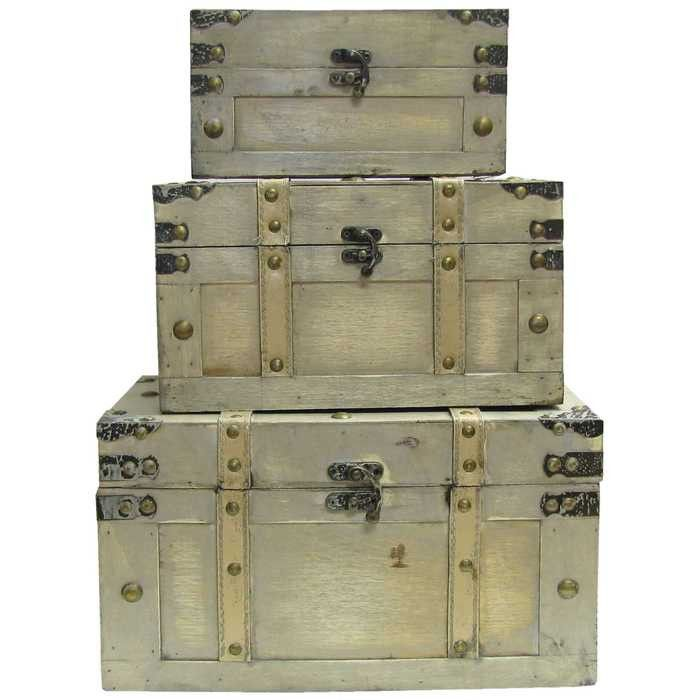Faux Leather Trunk Box Set