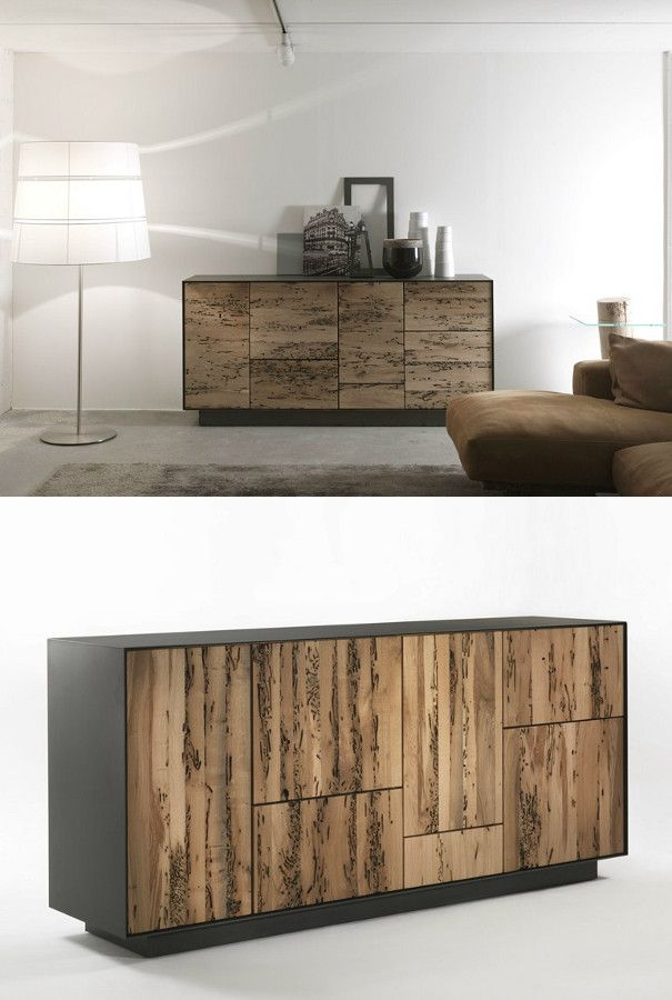 Briccola wood sideboard with drawers RIALTO MODULO 4 by Riva 1920 | #design Giuliano Cappelletti @riva1920