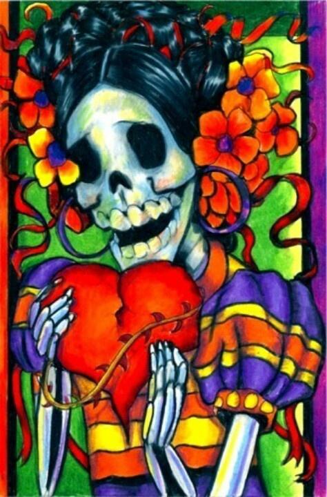 Dia de Los Muertas.  Love the bright colors. Lovely Senorita.