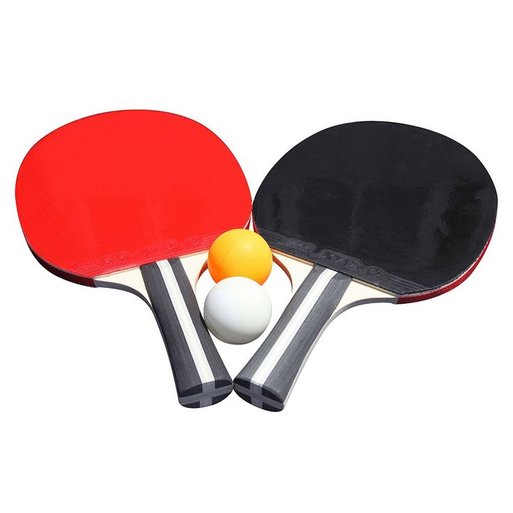 Hathaway Single Star Control Spin Table Tennis 2-Player Racket and Ball Set, Multicolor