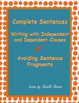 This lesson on sentence fragment includes an editable PowerPoint lesson explaining sentence fragments and gives lots of practice opportunities to correct them.