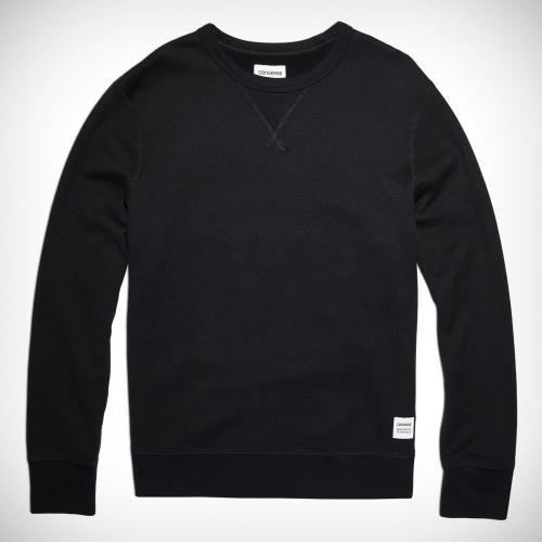 Prezzi e Sconti: #Felpa a girocollo da uomo essentials Black  ad Euro 75.00 in #Converse #Uomo essentials