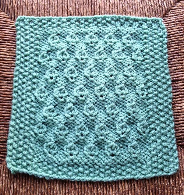 Free Ravelry Knitting Patterns : Ravelry: Hazelnut Stitch Afghan Block 9