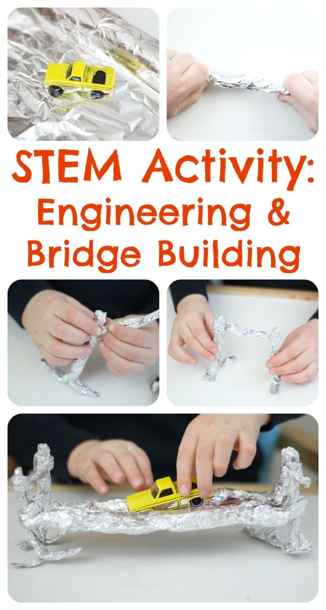 Engineering Activities for Children - build a bridge with foil