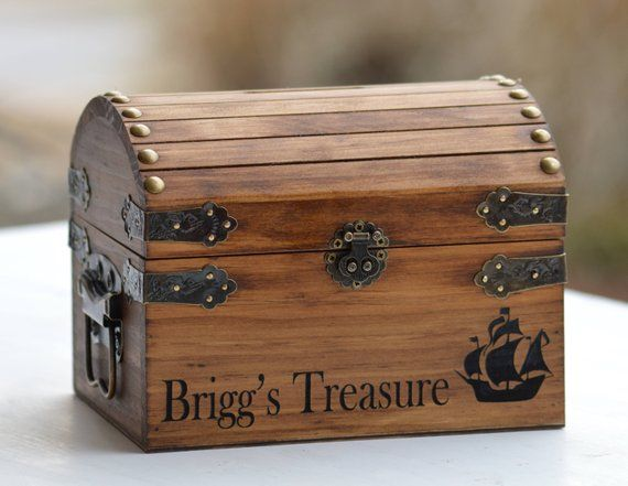 Wood coin bank for boys & girls Personalized piggy bank for